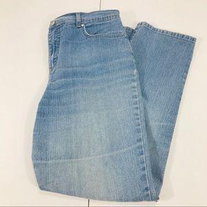 Gloria Vanderbilt Amanda Blue Straight Leg Jeans
